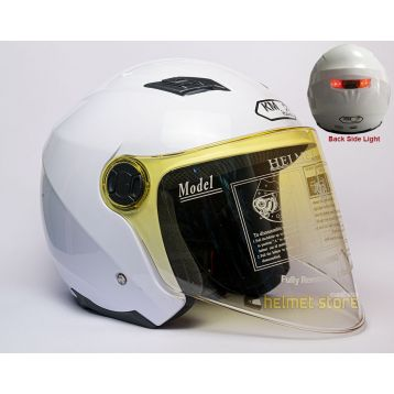 Helmet KM 896 White with Light