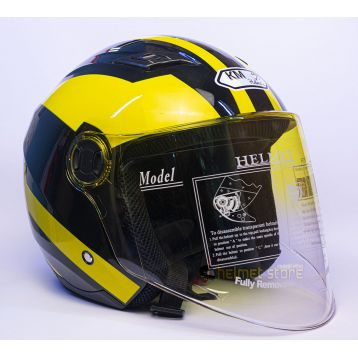 Helmet KM 896 Graphics Yellow+Black