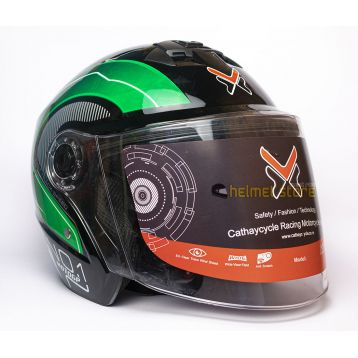 Helmet VX No. 1 Green Graphics